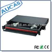 Exterior montaje en pared de fibra óptica caja de terminales 12/16/24 puerto de fibra óptica odf