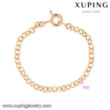 70462 Xuping novo projetado por atacado banhado a ouro pulseiras de amizade
