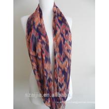 Мода цветочные печать полиэстер вуаль бесконечности шарф