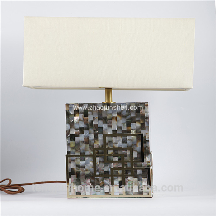 Luxury black mother of pearl inlay table lamps for Hotel and Home