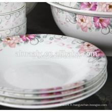 assiette oméga personnalisée en porcelaine imprimée pour la nourriture ou la soupe