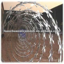 Anti-corrosion CBT-65 galvanized Scraper type razor barbed wire for protection with reasonable price (manufacturer)