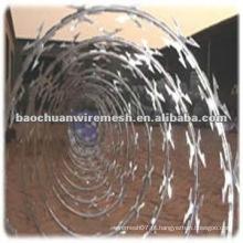 Anti-corrosão CBT-65 galvanizado Scraper tipo barbear arame farpado para proteção com preço razoável (fabricante)