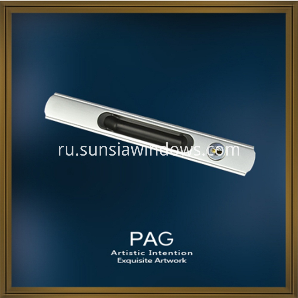 High Quality Luxury Zinc Alloy Sliding Pull Handles for Meeting Room Exhibition Hall and Senior Hotel