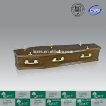 Caixão de madeira barato com caixão lidar com LUXES estilo australiano caixão A20-GSK