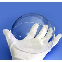 Lente de vidro esférico com domo de safira para câmera