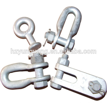 Shackle power fitting overhead lines Accessories power pole line hardware fitting electric transmission line fitting