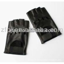 genuine leather women fingerless gloves