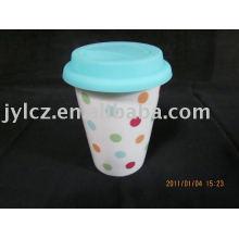 Taza cerámica de pared doble