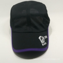 100% polyester liant brim bon marché casquette