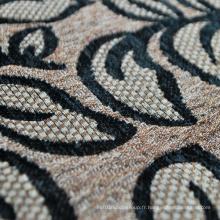Types de tissu de tissu de canapé par tissu noir tissé de Chenille