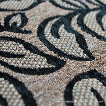 Tipos de Sofá Material Tela de Chenille Negro Tejido