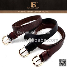 OEM cowhide Wenzhou unique design ladies black leather belt
