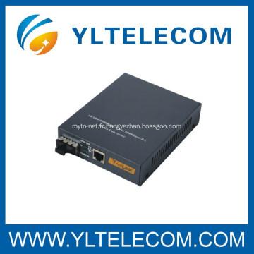 Convertisseur de média fibre optique monomode 10 / 100M / 1000M