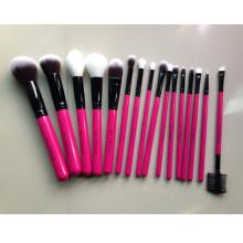 16piece Ensemble de brosse à maquillage végétalien 100% chaud (TOOL-55)