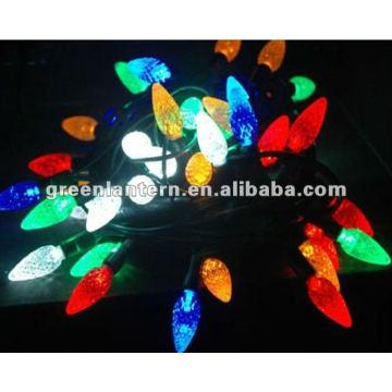 Diodo emissor de luz Natal-multicolorido C7 morango, luz da corda do diodo emissor de luz