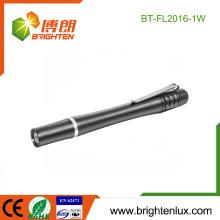 Fabrik Soem kundengebundenes 2 * AA batteriebetriebenes Handheld Aluminiumlegierung weißes Licht 0.5w Penlight führte medizinisch für Mund-Abfragung