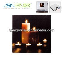 Romantische Kerze Dekoration LED Bild für Wand