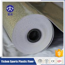 Piso plástico antideslizante Suelo decorativo brillante del PVC interior
