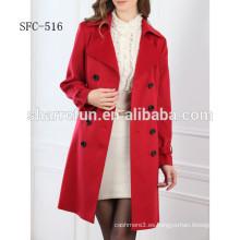 Estilo de la moda de las mujeres del abrigo de cachemira 100%