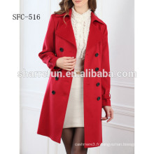 100% cachemire manteau femmes mode style