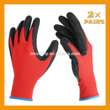 13Gauge Knitted Liner Palm Latex Coated Glove Black Latex Rubber Guante Guante de trabajo diario