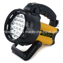 Portable 19PCS LED Spotlight & 4PCS LED Luz de advertência