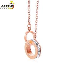 Collar de diamantes de la joyería de la manera del acero inoxidable