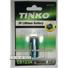 CR123A 3.0 v 1300mAh Bateria de lítio com boa qualidade