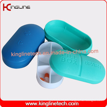 Hote-Selling Plastic 6-Cases Pill Box (KL-9090)