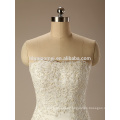 Off-shoulder white color lace A line hand beabed sexy indian wedding dress wholesale