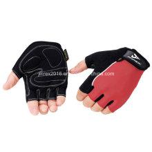 Radfahren-halbe Finger-Sport-Fahrrad-Fahrrad-Zyklus-Sport-Ausrüstung Handschuh mit Wölbungs-Gel-Auflage-Geschenk-Gebirgsfahrrad-Fingerless Sport-Abnutzung Jr509 Rot