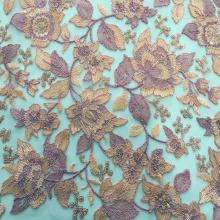 Polyester Yarn Embroidery On Nylon Korea Mesh