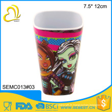 novelty high quality printed square custom plastic cups