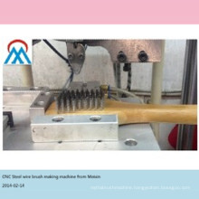 2 axis CNC automatic stainless teel wire brush making machine work with steel wire cutted in advance china alibaba