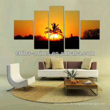 5 Splitting Panels Malerei Kunst des Sonnenuntergangs Wald Bilder