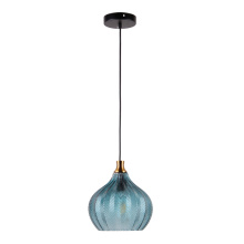 Lámpara colgante de vidrio para interiores con color azul