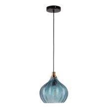 Luminária de interior moderna com cor azul