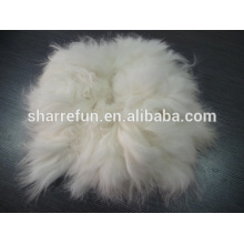 Sharrefun usine wholersale 100% épilée Spiky Angora lapin cheveux fibre White Super grade