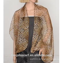2016 Frühling / Sommer Lady klassische Leopard gedruckt Polyester Chiffon Schal Schal