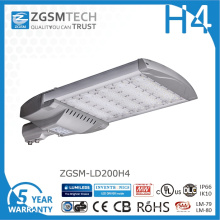 Luz de rua LED 200W barata com chips Philips Lumiled