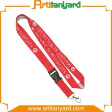 Red Color Woven Lanyard as Gifts