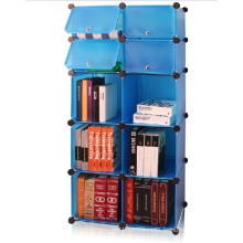 Estante de libro de bricolaje, azul, almacenamiento de cubo de pared (FH-AL01027-4)