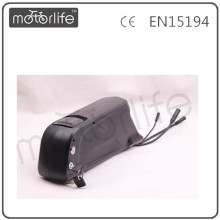 MOTORLIFE 2013 NEW Tub electric bike lithium ion battery with USB socket