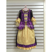 Yellow And Purple Party Dress