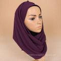 New arrival fashion scarf women plain chiffon crinkle hijab wholesale
