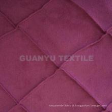 Tecido decorativo para móveis de camurça de poliéster trama