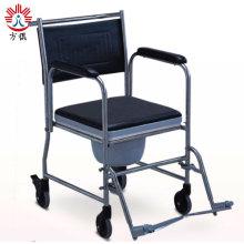 Silla con inodoro con ruedas para discapacitados