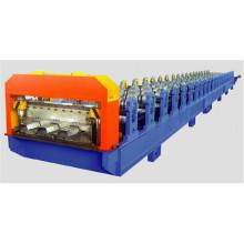 Máquina formadora de rollos de paneles de cubierta de piso