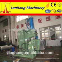Máquina de amassar borracha com porta de descarga de extrusão